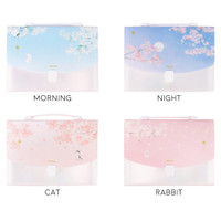 Dear Cherry Blossom Plastic Folder Briefcase A4 / Map Folder A4 / Map