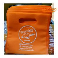 Goodie Bag Bisa Sablon Oval 20x20, Tas Spunbond, Tas Souvenir - Orange