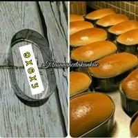 Loyang roti bakso / ring cutter / ring roti oval stainless 9 x 6 x 3