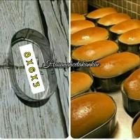 Loyang roti bakso / ring cutter / ring roti oval stainless 8 x 6 x 3