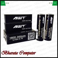 Baterai AWT 3400mAh Hitam 18650 Black Vapor Batre Battery 3400 mAh - Hitam