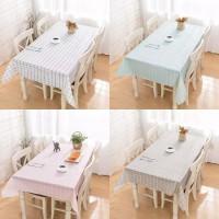 Country Style Waterproof Table Cloth / Taplak Meja Makan PEVA Anti Air