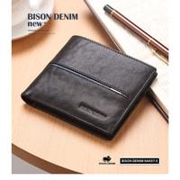 Dompet Pria Kulit Asli Bison Denim Original Fashion Bifold Wallet