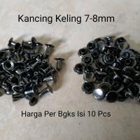 Kancing Keling 7-8mm Black Model 2 Pieces - Per Bgks Isi 10 Pcs