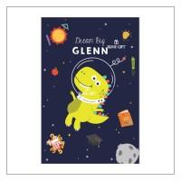 Selimut Bedcover Anak Bayi Custom Nama Baby Boy Dino Astronot Space