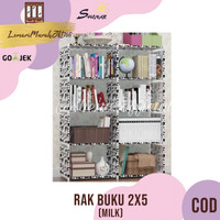 RAK BUKU 2X5 / RAK SERBAGUNA 2 SISI (85X30X125CM) KARAKTER-MILK,SHENAR