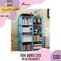 RAK BUKU 2X5 / RAK SERBAGUNA 2 SISI (85X30X125CM) KARAKTER-BLUE,SHENAR