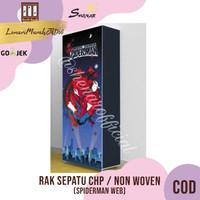 Rak Sepatu CHP Cover Karakter 10 Susun 2Kg - SPIDERMAN WEB,SHENAR