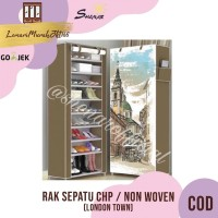 Rak Sepatu CHP Cover Karakter 10 Susun 2Kg - LONDON TOWN,SHENAR