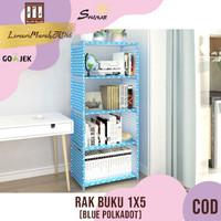 RAK BUKU 1X5 / RAK SERBAGUNA KARAKTER - BLUE ,SHENAR