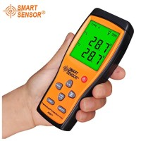 Thermometer Dual Channel Smart Sensor AS877 2 Thermocouple Termometer