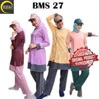 Setelan Baju Kaos Olahraga Wanita Muslimah Premium Branded BMS 27