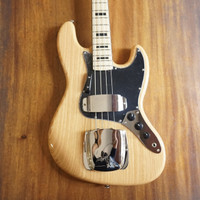Vintage VJ74NAT Maple Board Natural Ash Body Electric Bass
