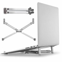 X Stand Laptop Lipat Alumunium / Holder Laptop / Cooling Pad 17 Inch