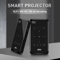 4K Mini Proyektor Portable 1/8Gb Android 6.0 Support WIFI/Bluetooth