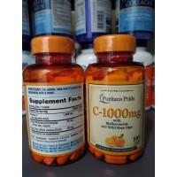 Puritan's Pride C 1000 mg - 100 Caplets Puritans Pride C1000Mg Vit C