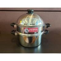 NO BOX Zebra Steaming Set 26 Cm (164226-1) / Panci Steam Stainless