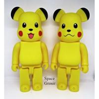 Pajangan Figure Mainan BearBrick BE@RBRICK Pokemon Pikachu 400%