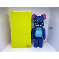 Pajangan Figure Mainan BearBrick BE@RBRICK Stitch 400%