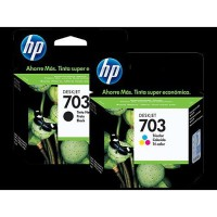 TINTA / CATRIDGE HP 703 BLACK / COLOR ORIGINAL 100%