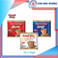GOOD DAY Kopi 3in1 Mocacinno-Carrebian Nut-Vanilla Latte 10 sachets