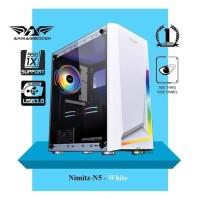 Casing PC Gaming Armagedon Nimitz N5 HITAM DAN PUTIH