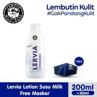 LERVIA Lotion Susu Milk 200mL + 30mL Free Masker