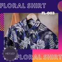 Kemeja Pria Murah Motif Floral Lengan Pendek | Kemeja Pantai FL-003 - L