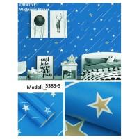 Wallpaper Sticker Dinding Bintang Biru Dekorasi Kamar Tidur Ruang Tamu
