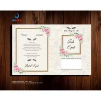 Undangan Pernikahan / UND. 004 / Undangan Rustic / Undangan Murah