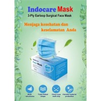 INDOCARE FACE MASK EARLOOP 3-Ply isi 50 PCS 1 DUS