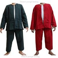 baju PANGSI Betawi size: JUMBO - Hitam, XXL