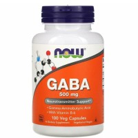 Now Foods GABA 500 mg 100 Veg Neurotransmitters Support - Vitamin otak