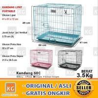 Kandang Besi Lipat Tebal Besar L ( 60C ) Kucing / Burung / Kelinci