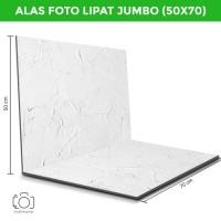 Alas Foto Lipat Jumbo Semen Putih 50x70cm / Background Foto (CLJ-06)