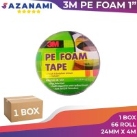 1 Box Double Tape busa 3M Pe Foam Tape 24mm x 4M (Gojek)