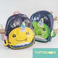 RUMAUMA SEA Unicorn Backpack Kid Tas Ransel Anak Sekolah SD TK Fashion