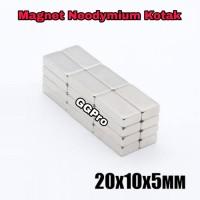 MAGNET NEODYMIUM KOTAK 20x10x5