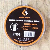 Geekvapee kawat coil wire Fused Clapton Ni80 Nichrome 28ga*3+36ga ori - zn08