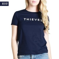 Kaos Lengan Pendek Wanita / Thieves Navy Tee 12068P4NA - 10PM