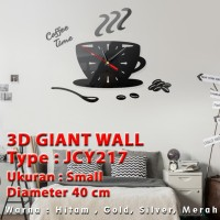 Jam Dinding 3D Giant Wall Clock Size SMALL Tipe JCY 217 Diameter 40 cm
