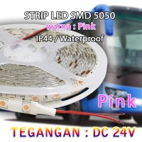 LED Strip SMD 5050 Pink DC 24V IP44 WATERPROOF