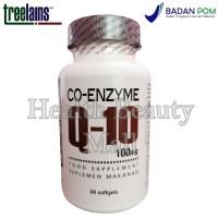 Treelains Co-Enzyme Q-10 100mg 30 Softgels - Coenzyme - CoQ10