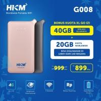 Mifi Modem Wifi 4G LTE GlocalMe HKM G008 XL Go IZI Free Kuota UNLOCK
