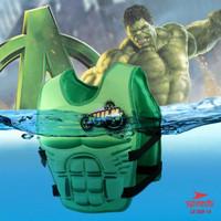 Pelampung Renang Anak bergambar Superhero, Bahan bagus, Import, 020-14 - Hijau Hulk