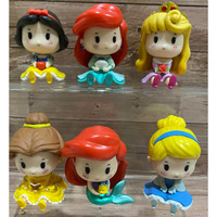 Princess Ariel Aurora Cinderella Belle Figure Set of 6 Baby Version