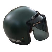 Helm Bogo / Helm Retro Line Army Doff HKM + Visor Datar