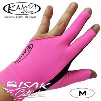 Kamui Glove Pink M - Left Hand Medium Sarung Tangan Pool Billiard Ori