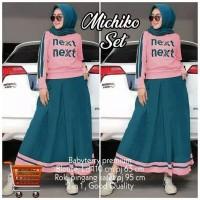 Setelan Michiko Big Size Setelan Rok Muslim Jumbo