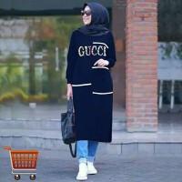 Tunik Panjang Kenzi Big Size Long Tunik Muslim Jumbo